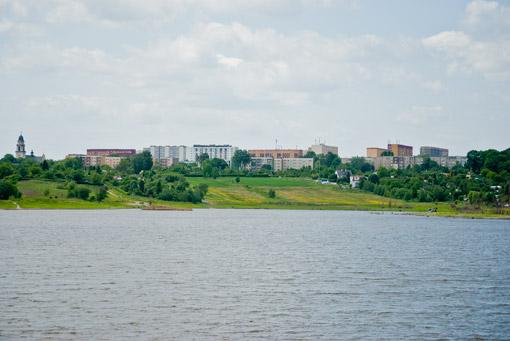 Widok z brzegu Brandki na Miechowice