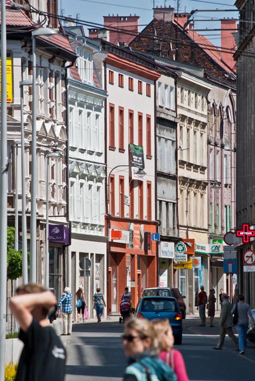 Ulica Gliwicka w centrum Bytomia