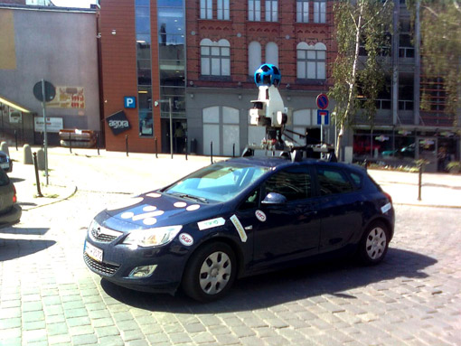 Google Street View na ul. Webera