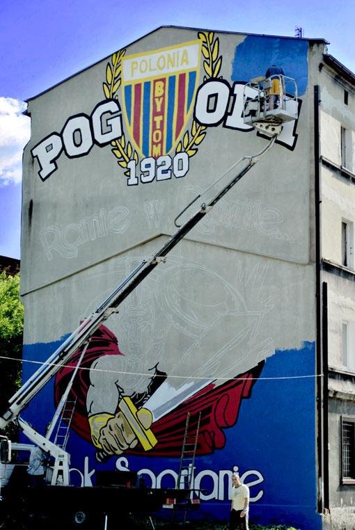 Mural Polonii Bytom na ul. Musialika