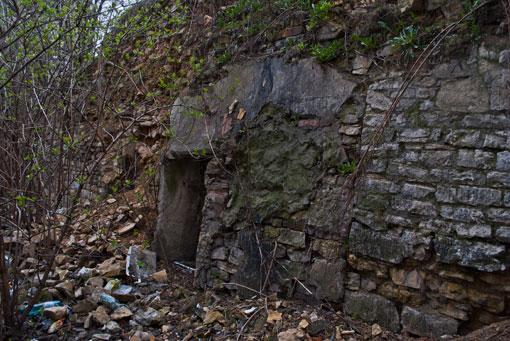 Fragment murów miejskich przy ul. Korfantego
