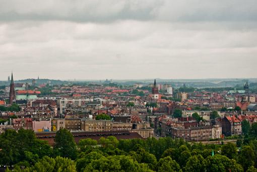 Panorama Bytomia z szybu Krystyna