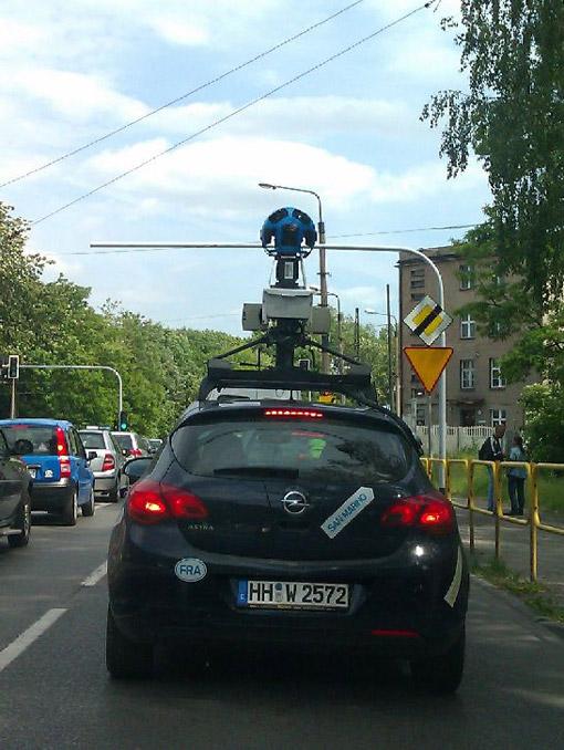 Pojazd Street View na Zamłyniu
